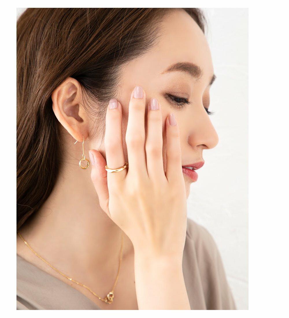 日本CREAM DOT  /  リング 指輪 金属アレルギー ニッケルフリー レディース 12号 ファッションリング クラフト調 メタル たたき加工 大人カジュアル シンプル 可愛い ゴールド シルバー  /  d00080  /  日本必買 日本樂天直送(790) 1