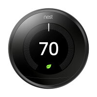 Nest 3rd Generation Programmable Wi-Fi Smart Learning Thermostat T3016US - Black