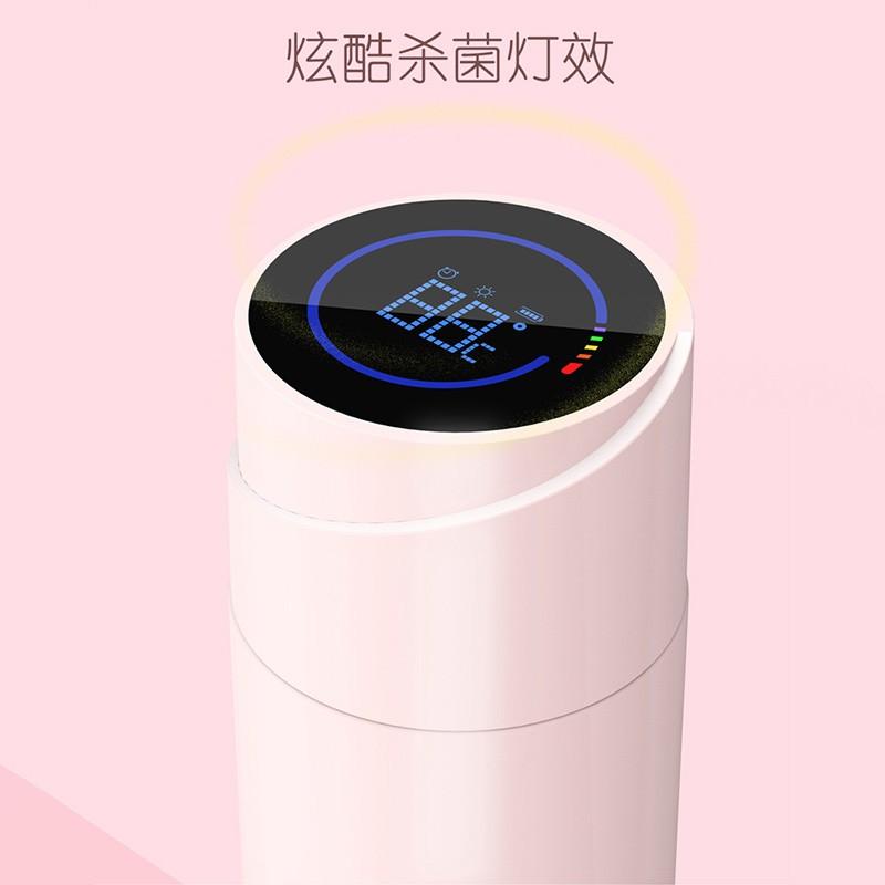 熱銷新品 智能水杯殺菌保溫杯便攜茶杯子女士時尚帶蓋溫度顯示的會提醒喝水