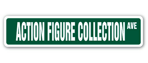 "ACTION FIGURE COLLECTION Street Sign collector box set character figurine Indoor/Outdoor 36"" Wide 5ad7f0d86f741ae5b11fae21ef22596f"