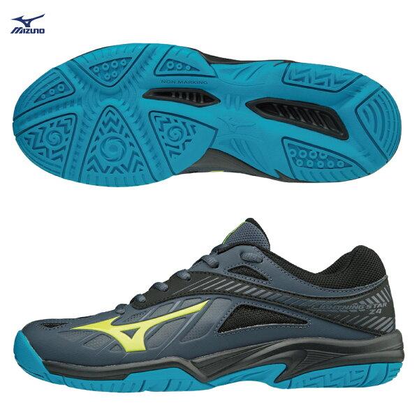 V1GD180347(深丈青X螢光綠)LIGHTNINGSTARZ4Jr兒童排球鞋【美津濃MIZUNO】