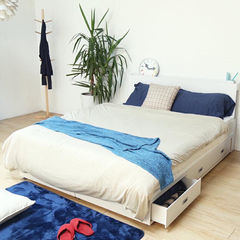 狄尼塔斯輕旅風雙人5尺房間組/2件式(床頭+抽屜床底)/3色/H&D東稻家居
