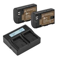 Green Extreme 2 Pack LP-E6N Battery and Dual Smart Charger Kit (7 4V  2000mAh)