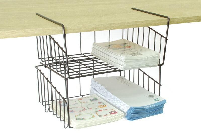 【凱樂絲】媽咪好幫手DIY櫃子鐵線收納籃(吊架式) - 中型, 垂直空間利用-組合式  廚房, 浴室, 客廳, 衣櫃, 櫥櫃適用