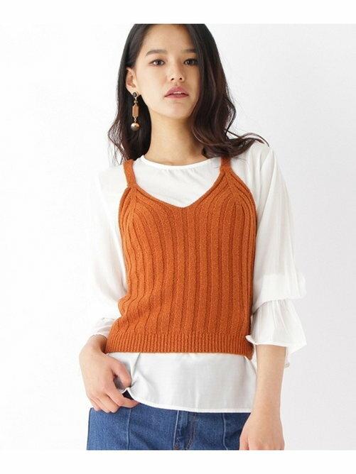 OZOC 細肩帶 壓紋 針織衫 背心 日本必買 日本直送 代購/日貨/雜誌
