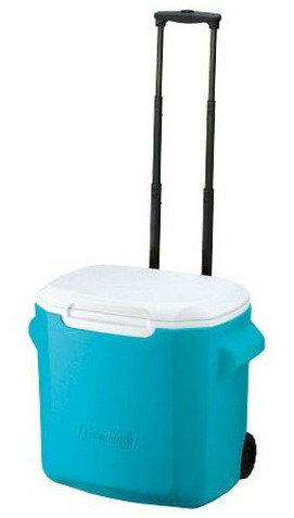 【鄉野情戶外專業】 Coleman |美國| 26L 拖輪冰桶/冰桶 保鮮桶 保冰箱-藍/CM-0029JM000