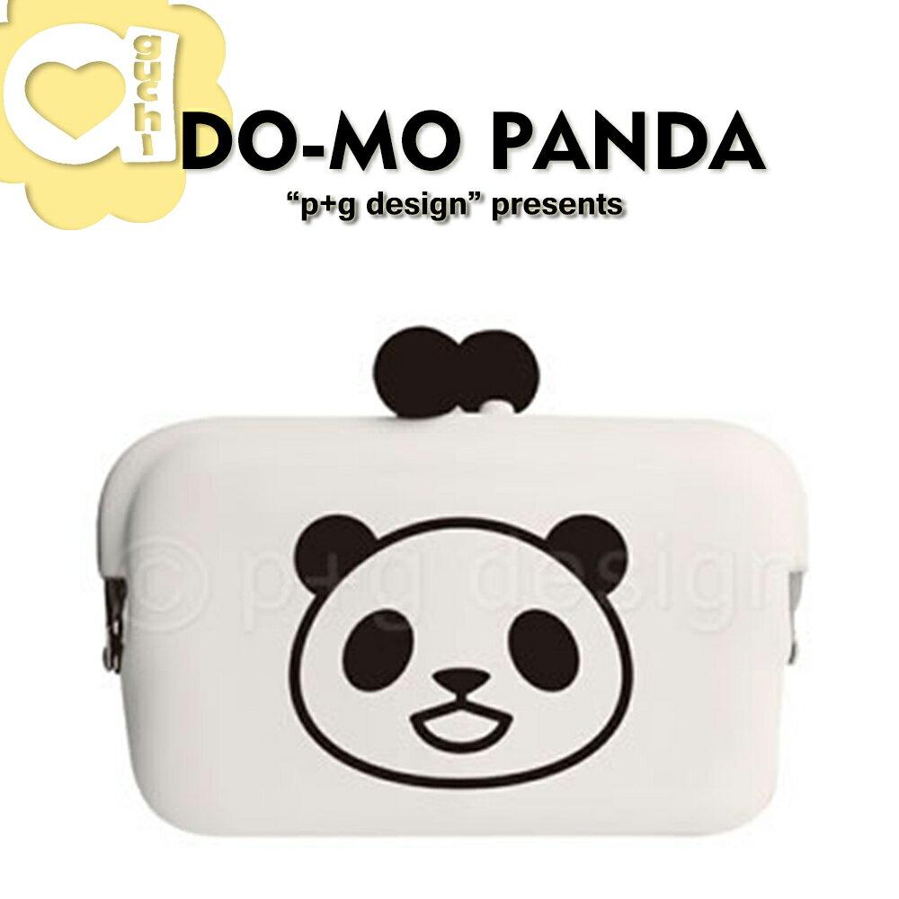 日本進口 p+g design DO-MO 熊貓系列 矽膠零錢包/名片夾/收納包 - 開心熊貓