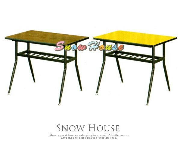 ╭~雪之屋居家 館~╯AA831~28  31  34 烤黑西餐長桌 木心板  黑邊