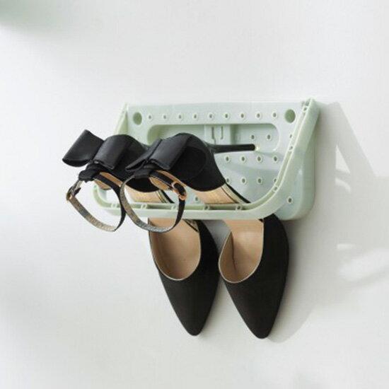 壁掛式黏貼鞋架 創意 家用 可折疊 掛式鞋架 浴室 掛牆 鞋子 拖鞋收納架 居家 ♚MY COLOR♚【J087】