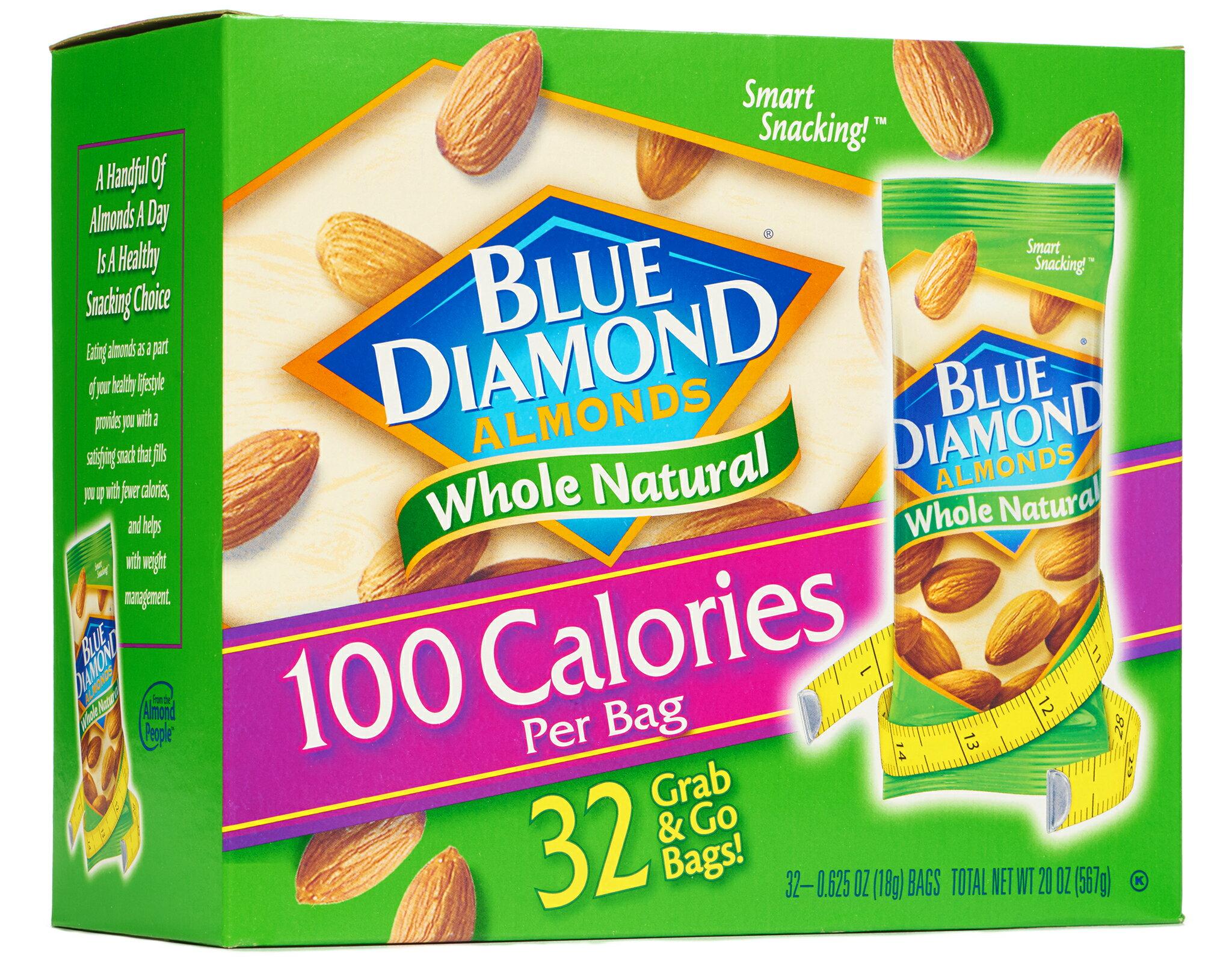 Blue Diamond Whole Natural Almonds - 32 Grab & Go! Bags 0