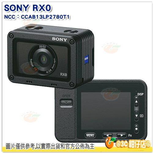 現貨送64GC10+副電+座充+自拍棒等好禮SonyDSC-RX0防水數位相機台灣索尼公司貨RX0運動相機慢動作錄影防震