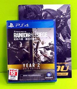 [現金價] (含畫冊)PS4 虹彩六號 圍攻行動 黃金版 Year 2版
