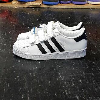 adidas SUPERSTAR FOUNDATION CF C 魔鬼氈 金標 大童鞋 白色 白黑 皮革 最大21.5 B26070