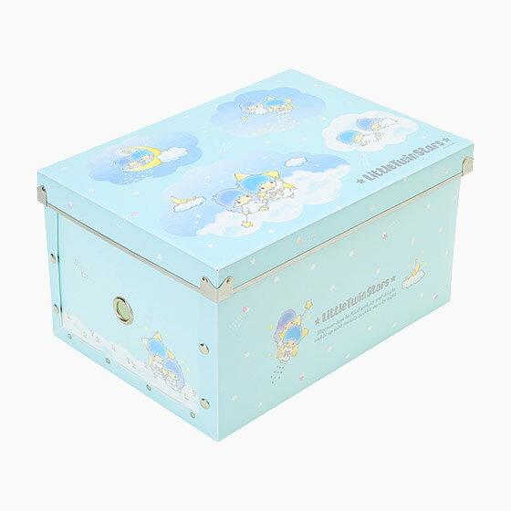 【真愛日本】17070600007 組合式收納箱M-TS藍+AAUB 麗鷗家族 Kikilala 雙子星 收納盒 置物 日用品