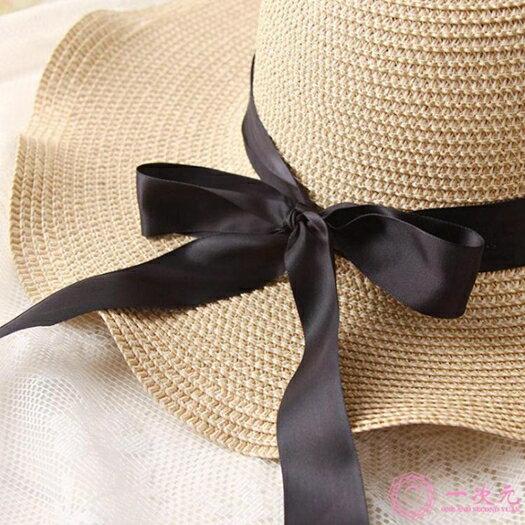 遮陽帽沙灘帽子女夏海邊大帽檐防曬波西米亞甜美可愛折疊小清新度假大沿帽 618年中鉅惠