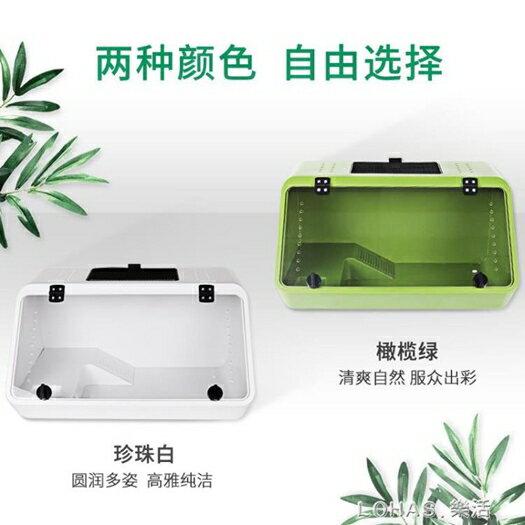 豪華別墅烏龜缸帶曬臺大型養烏龜的專用缸水陸缸巴西飼養箱生態盆 樂活生活館