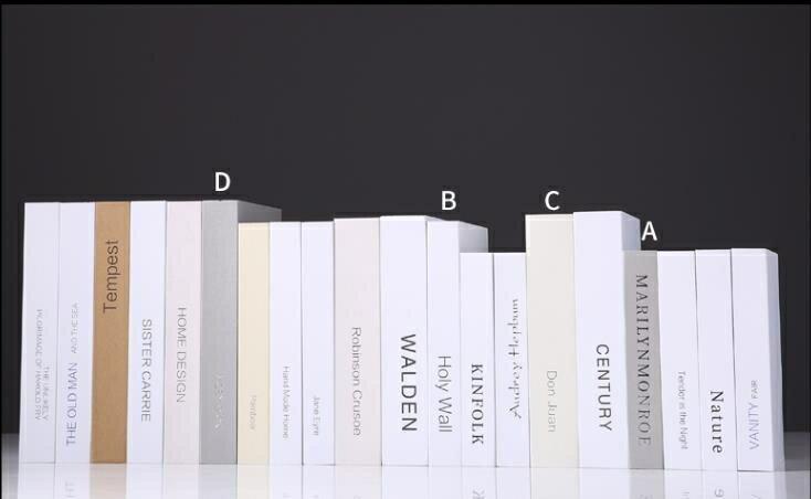 仿真書擺件    仿真書裝飾品假書擺設創意北歐風格裝飾擺件家居飾品櫃書架書模型   瑪麗蘇 - 限時優惠好康折扣