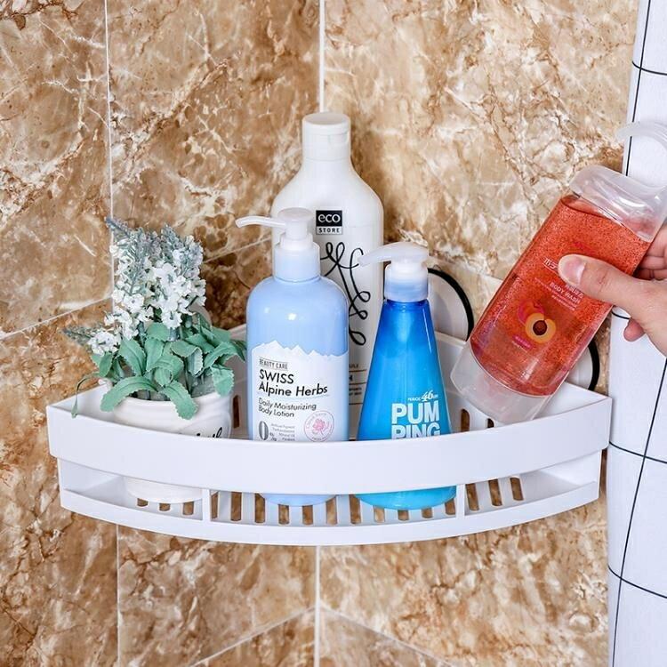 置物架 deHub吸盤百貨浴室墻角轉角扇形三角收納架衛生間吸壁式置物架 0