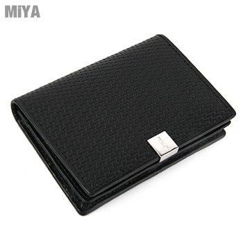 MiYA Belod 義大利真皮編織紋男用皮夾名片夾卡片包(牛皮) 棕咖黑色 現貨