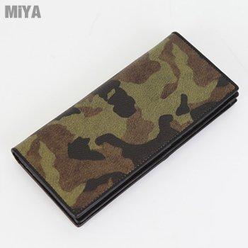 MiYA Military 義大利防刮真皮野戰男生皮夾長夾(牛皮) 草綠棕紅灰色