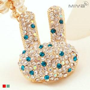 【Miya米亞】長耳兔 可愛造型鑰匙圈/包包掛飾 (飾品 水鑽 隨身佩件 佩飾 吊飾 裝飾 精品 鑰匙釦)