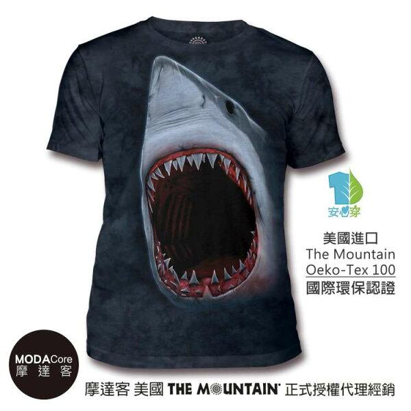 【摩達客】(現貨)美國TheMountain都會系列鯊魚口中性修身短袖T恤