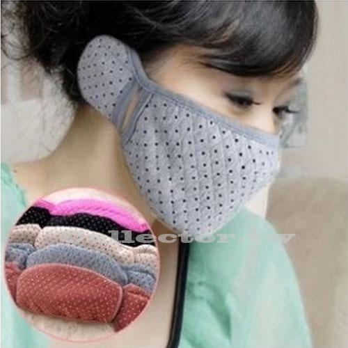 【M14122601】秋冬保暖護耳口罩 口罩耳罩二合一 女用口罩 騎車口罩 防寒口罩