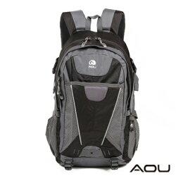 【AOU微笑旅行】高機能抗撕裂登山背包 後背包(黑色103-002)【威奇包仔通】