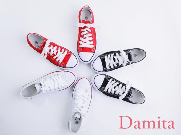 Damita 百搭 校園帆布鞋   3色   版型偏小 ~現  預~