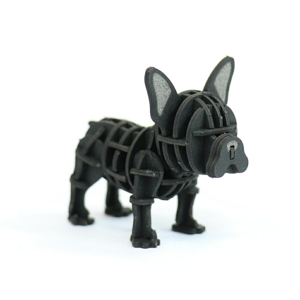 JIGZLE 3D紙拼圖 法國鬥牛犬  立體拼圖 聖誕節 交換禮物