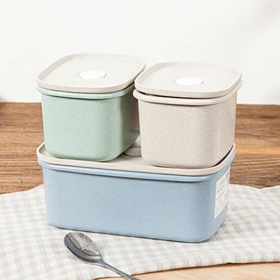 ♚MY COLOR♚小麥真空閥密封盒(440ML) 便當 食品 零食 雜糧 五穀 乾糧 廚房 保鮮 收納【N52】