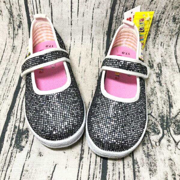 巷子屋:【零碼出清-1719號】ColorZebra女童亮蔥造型娃娃鞋公主鞋[2130]黑MIT台灣製造超值價$150【單筆消費滿1000元全會員結帳輸入序號『CNY100』↘折100】