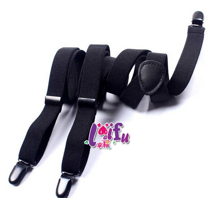 來福吊帶,k835吊帶三夾2cm金鋼狼真皮高質感西裝吊帶褲夾背帶吊帶,售價299元