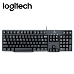 Logitech 羅技 K100(PS/2) 經典鍵盤【贈手機指環】【三井3C】