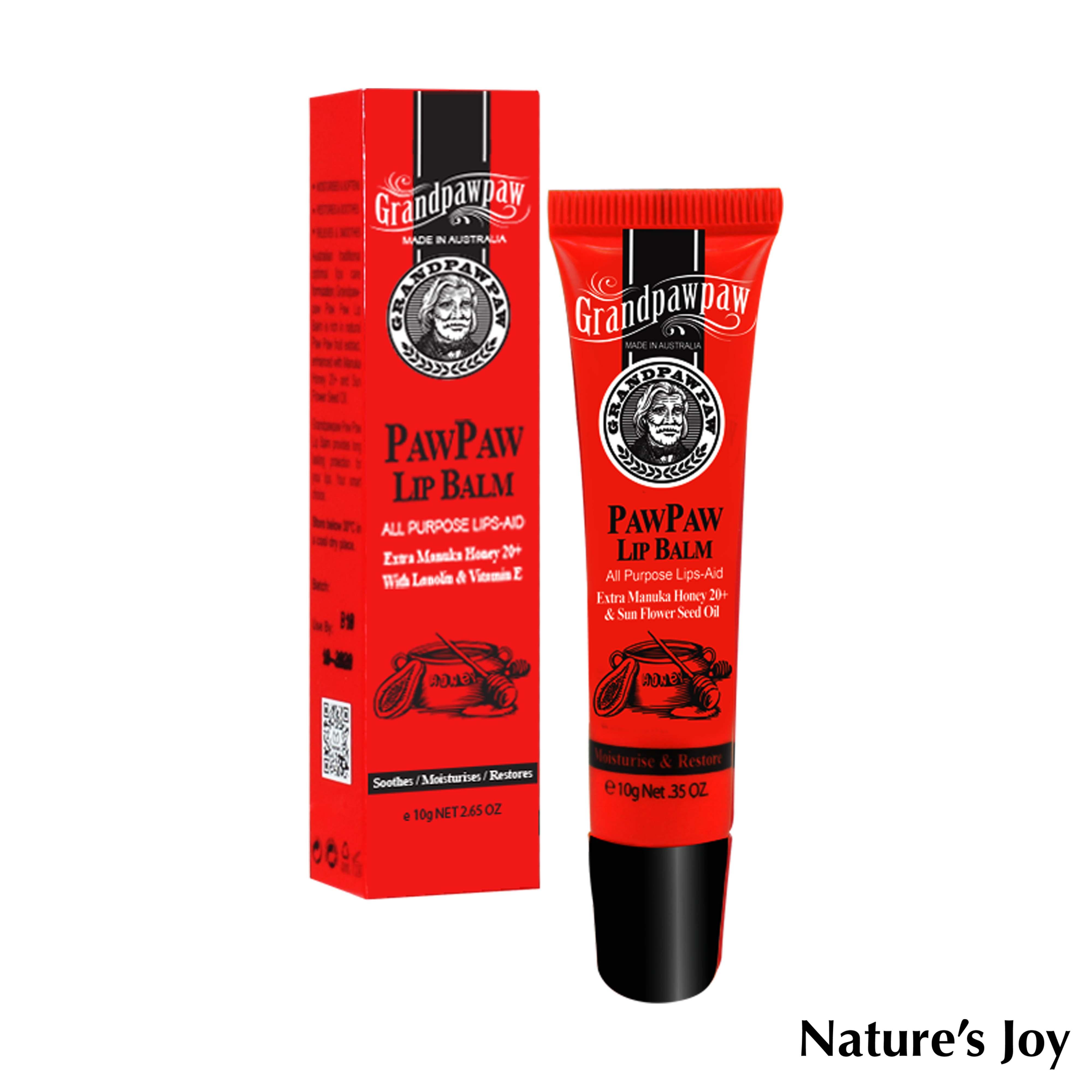 Nature's Joy 木瓜精華修護護唇膏10ml / 幼童可用 / 天然無毒 / 澳洲 / 不含化學成分 0