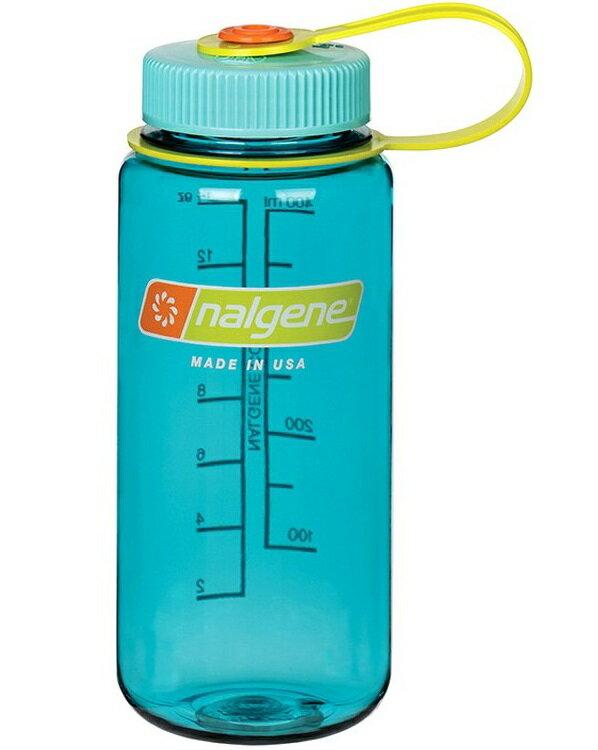 Nalgene 寬嘴水壺/運動水瓶/寬口瓶 Tritan 500cc 美國製 2178-2070蔚藍色
