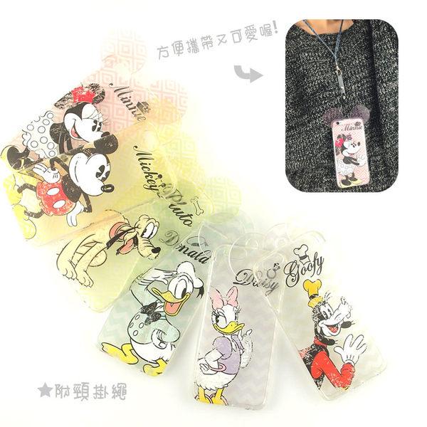 [APPLE]【Disney】耳朵造型彩繪透明保護軟套-復古斑駁系列[I6,I6S/I6+,I6s+] 0