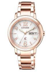 CITIZEN 星辰 XC系列 亞洲限定 甜美知性光動能腕錶 玫瑰金 EW2422-55A 32.5mm