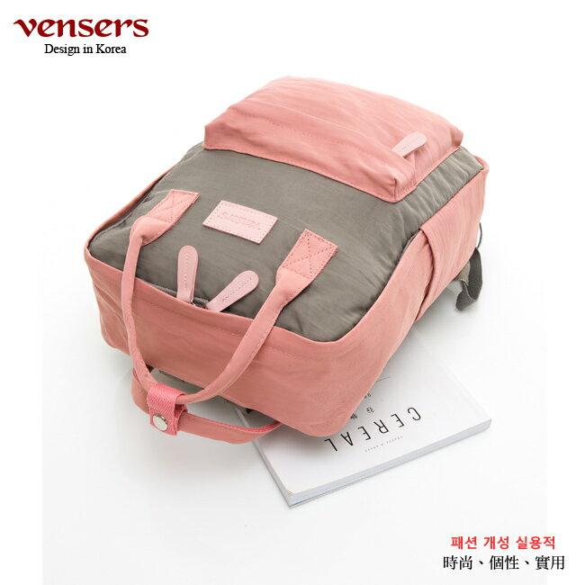 【vensers】 都會風後背包 (RB0890402粉紅灰) 2