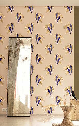 法國壁紙  鳥紋 鸚鵡紋 Season Paper Parrots PP-S1801 壁紙 2