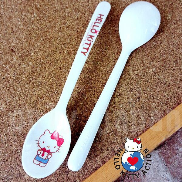 【真愛日本】18051800007長柄湯匙2入組-KT禮物kitty凱蒂貓餐具湯匙長柄湯匙攪拌匙