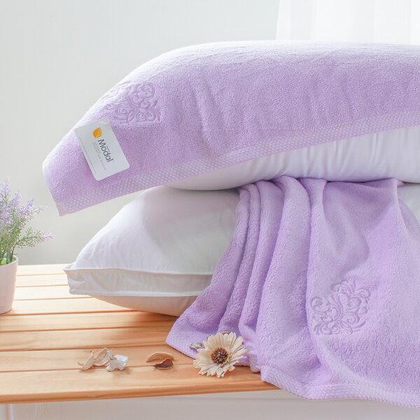 枕巾純色Modal莫代爾枕巾2入紫[鴻宇]台灣製