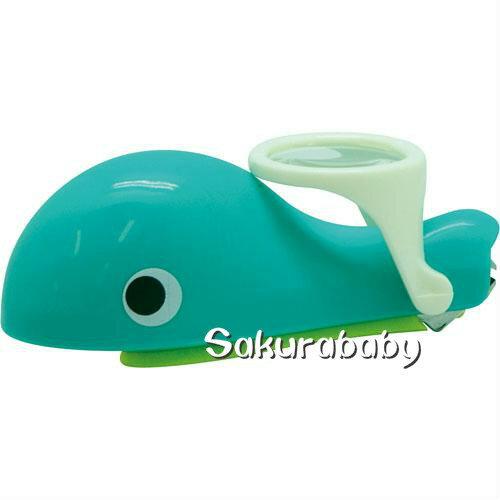 EDISON 鯨魚放大鏡指甲剪 鯨魚造型指甲剪 放大鏡指甲剪 幼童指甲剪 韓國製造 櫻花寶寶