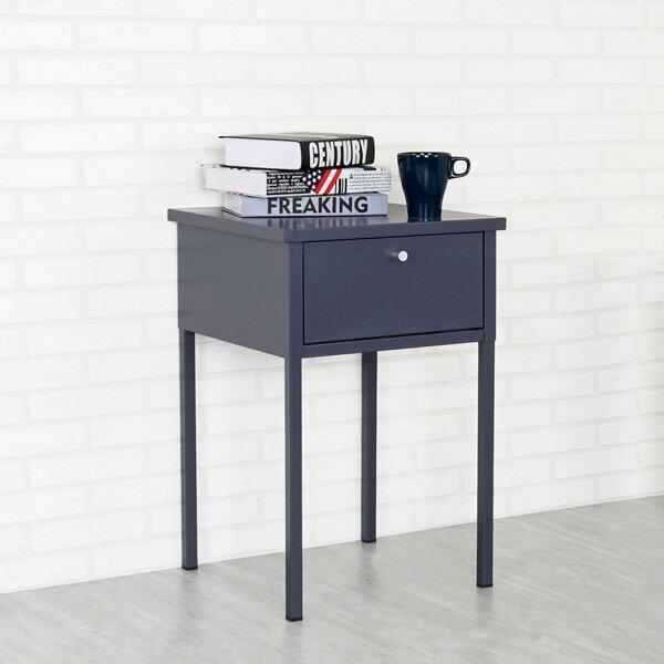 茶几床邊桌床邊桌邊桌抽屜桌【Yostyle】諾伊鋼製床邊桌(沉穩灰)
