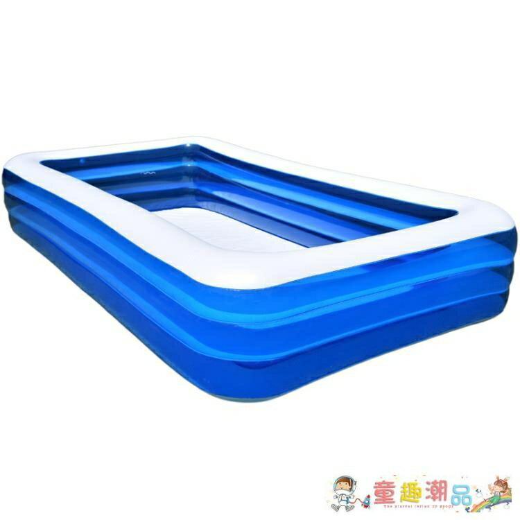 充氣泳池 超大號兒童充氣游泳池家用嬰兒寶寶大型家庭成人小孩加厚戶外浴桶