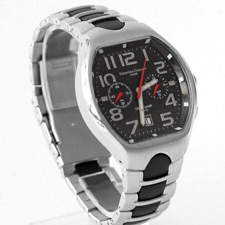范倫鐵諾Valentino 酒桶雙眼穩重 不鏽鋼手錶 計時 50米防水 柒彩年代~NE18