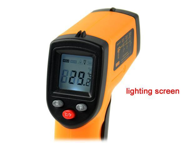 Non-Contact LCD IR Laser Infrared Digital Temperature Thermometer Gun Point GM320 -50~330  ºC 2