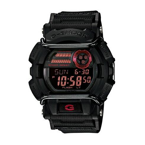 CASIO G-SHOCK GD-400-1紅黑流行腕錶/50mm