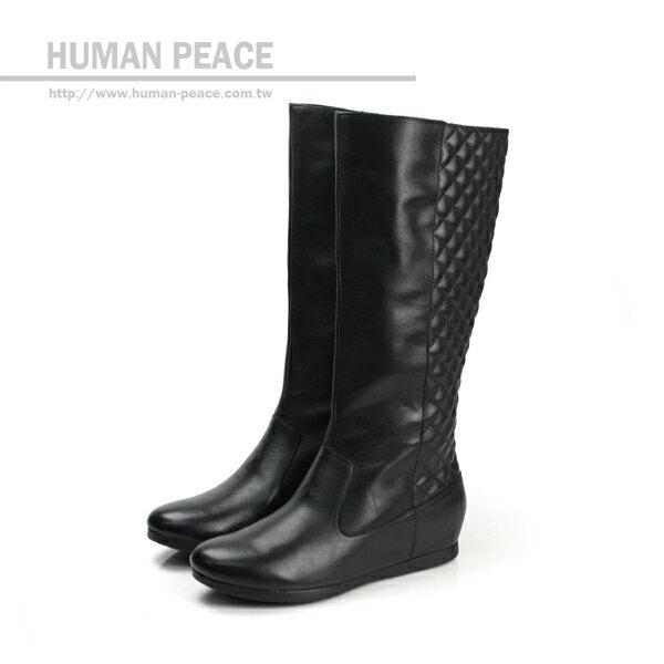 Kimo 皮革 舒適 長靴 戶外休閒鞋 黑 女款 no355