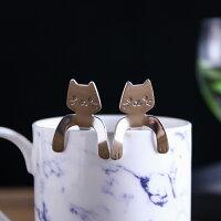 婚禮小物推薦到居家廚房餐具 創意可愛咖啡勺 小湯匙 攪拌匙 貓咪304不鏽鋼 婚禮小物/單售